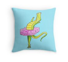 Tyrannosaurus- King of the Ballet Throw Pillow
