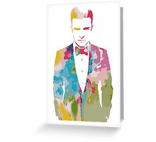 Justin Timberlake Water Colour Greeting Card