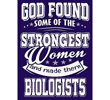 JOB - The Strongest women - Biologists T- shirt  - Special design and beautiful Photographic Print