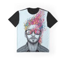 Colour Explosion Art Graphic T-Shirt