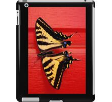 tiger swallowtail butterfly on unusual background iPad Case/Skin