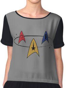 Star Trek Fleet Insignias Chiffon Top