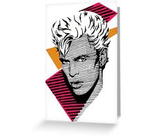 Billy Idol Graphic Tee Greeting Card