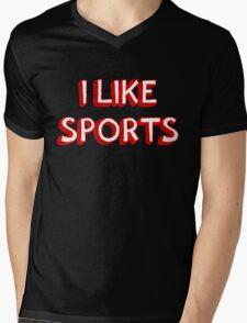 I Like Sports Mens V-Neck T-Shirt