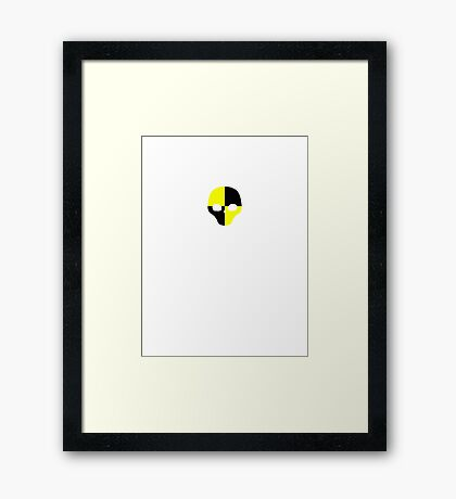 Crash Test 6 (skull) Framed Print