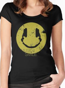Music Smile Women's Fitted Scoop T-Shirt