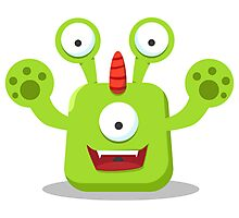 Green Eyed Monster Photographic Print