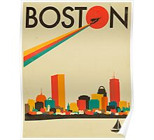 BOSTON SKYLINE Poster