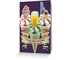 Three Flavours Cornetto Trilogy with banner Greeting Card