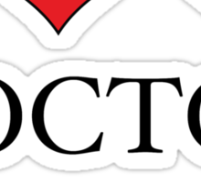 I Heart (x2) Doctor Sticker