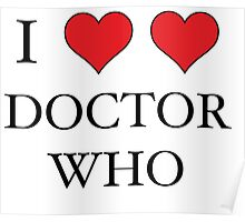 I Heart (x2) Doctor Poster