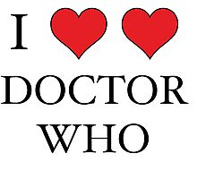 I Heart (x2) Doctor Photographic Print