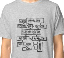 Boogie Down Production Golden Age Hip Hop mind map [bk] Classic T-Shirt
