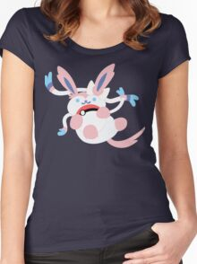 Sylveon playing with pokeball  Women's Fitted Scoop T-Shirt