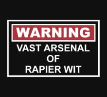 Warning: Vast Arsenal of Rapier Wit by Gwright313