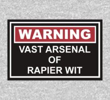 Warning: Vast Arsenal of Rapier Wit One Piece - Short Sleeve