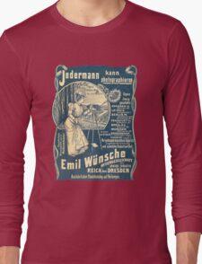 Vintage German Photographic Advert Long Sleeve T-Shirt