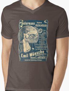 Vintage German Photographic Advert Mens V-Neck T-Shirt