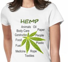 Uses Of Hemp Womens Fitted T-Shirt