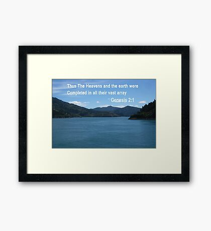 Blue Waters of the Marlborough Sounds (4019 Views) Framed Print