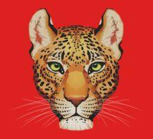 Leopard Face One Piece - Short Sleeve