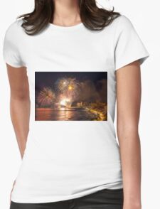 Fireworks at the Fiesta del Carmen 4 Womens Fitted T-Shirt