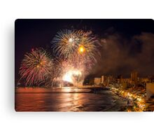 Fireworks at the Fiesta del Carmen 4 Canvas Print