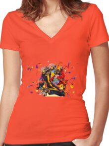Air gear Women's Fitted V-Neck T-Shirt