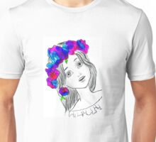 Pretty Girl With Pretty Flowers Unisex T-Shirt