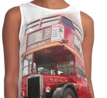 Old vintage Red London Bus Contrast Tank