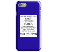 Tardis - Pull to Open iPhone Case/Skin