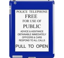 Tardis - Pull to Open iPad Case/Skin
