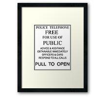 Tardis - Pull to Open Framed Print