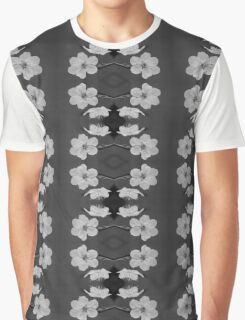 Black and White Blossom Circles Graphic T-Shirt