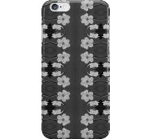 Black and White Blossom Circles iPhone Case/Skin