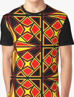 Red Black and Yellow Graphic T-Shirt