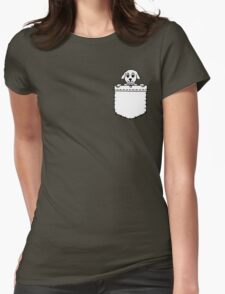 Dog Pouch Womens Fitted T-Shirt