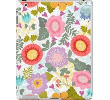 Cheerful summer pattern with flowers iPad Case/Skin