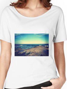 Blue sky blue Women's Relaxed Fit T-Shirt