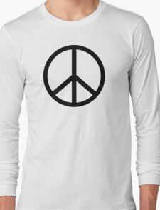 Peace Sign Hipster Fashion  Long Sleeve T-Shirt