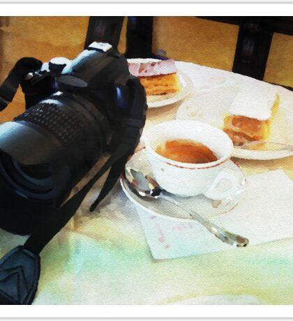 Photographers break in watercolor Sticker