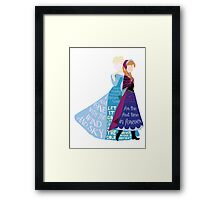 Elsa and Anna with Lyrics Framed Print
