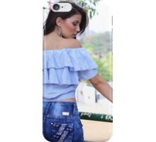 sexy woman in park  iPhone Case/Skin