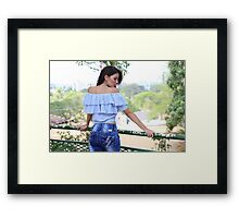 sexy woman in park  Framed Print