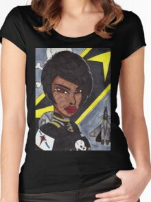 Space Fighter Pilot Women's Fitted Scoop T-Shirt