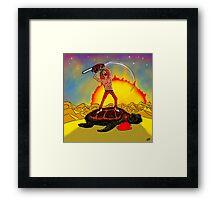 Turtle Slayer Framed Print