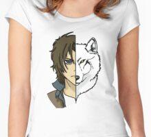 Kiba - Wolfs Rain Women's Fitted Scoop T-Shirt