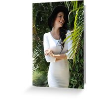 Beautiful  girl portrait outdoor Greeting Card