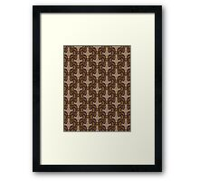 Leaf on the Wind Damask Framed Print
