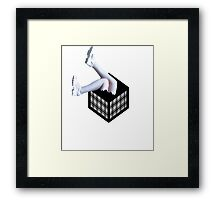 Cubes with Legs  Framed Print